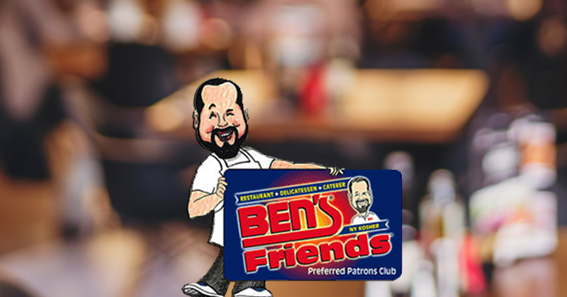 Ben's Friends Preferred Patrons Club Card
