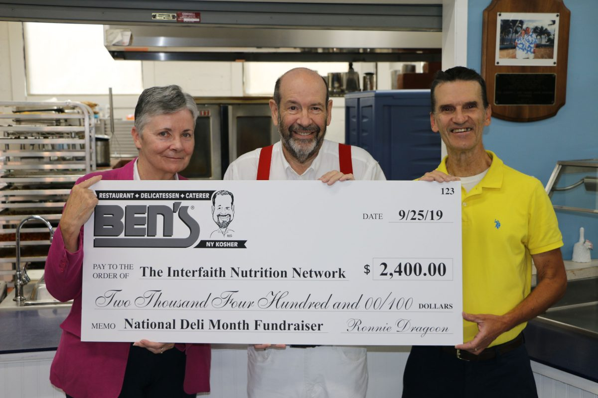 Ben's Donates $2,400 to The INN