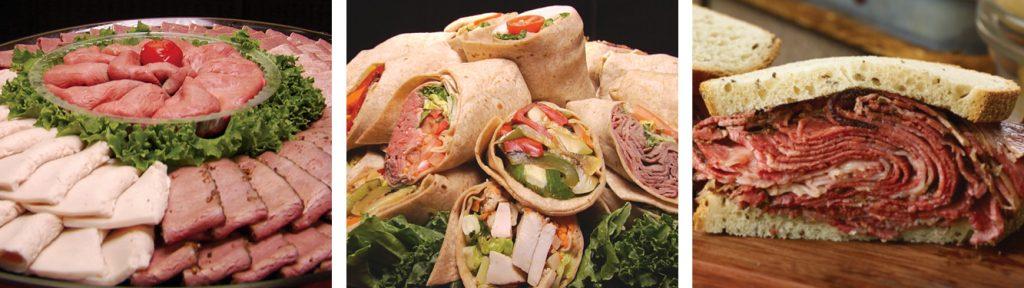 Ben's Cold Cut Platter, Wraps and Overstuffed Sandwiches