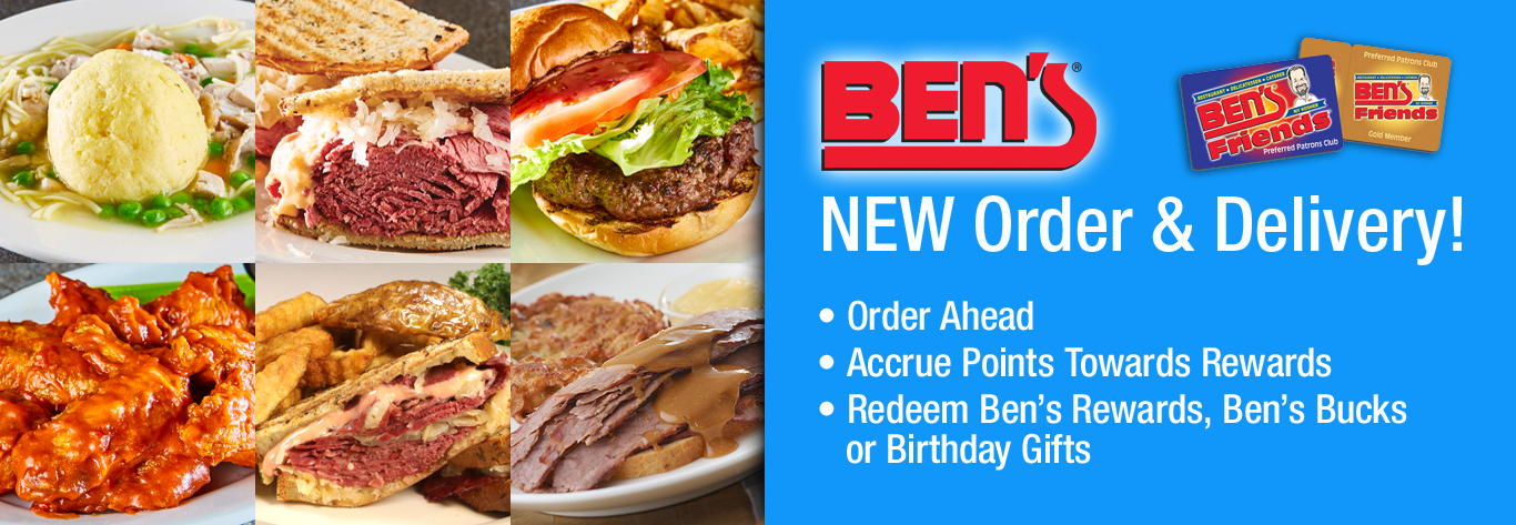 Accrue Points & Redeem Rewards In Ben's New Order & Delivery System